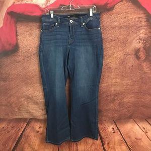 Levi's 529 Curvy Boot Cut Dark Jeans 14 31x31